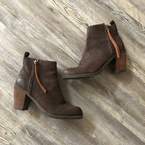 DV Dolce Vita Brown Suede Leather Booties size 8